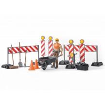 Набор знаков дорожных работ с фигуркой рабочего Bruder (62000)