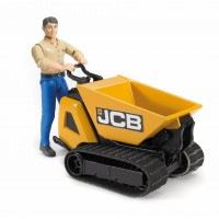 Игрушка Bruder перевозчик сыпучих грузов JCB Dumpster HTD-5 с рабочим (62004)
