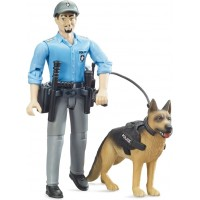 Фигурки Bruder Полицейский с собакой (62150)