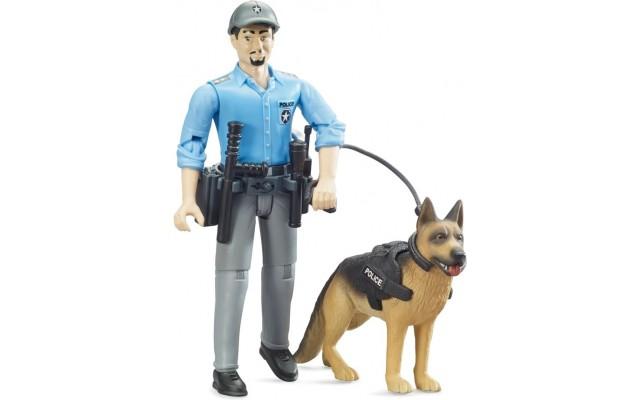 Фігурки Bruder Поліцейський з собакою (62150)