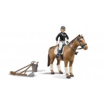 Фигурка всадница на лошади с инструментами Bruder (62505)
