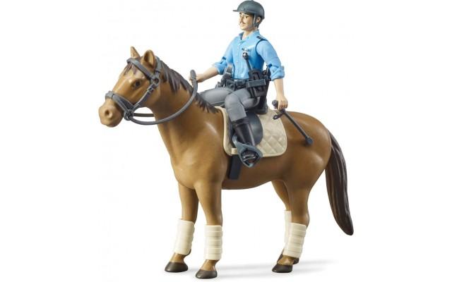 Фигурка Bruder Полицейский на лошади (62507)