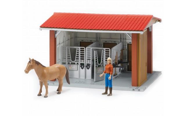 Конюшня с всадницей и лошадью Bruder (62520)