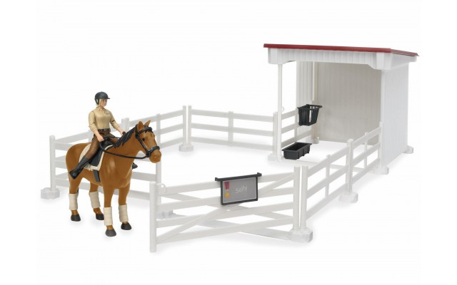 Фигурка всадница на лошади и ограждение загон Bruder (62521)