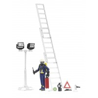 Фігурка пожежник зі сходами і аксесуарами Bruder 62700