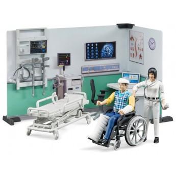 Игровой набор Bruder больничный кабинет с фигурками и аксессуарами (62711)