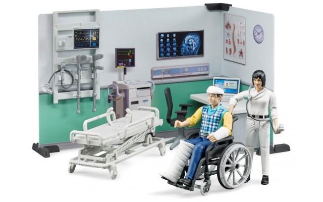 Ігровий набір Bruder лікарняний кабінет з фігурками та аксесуарами (62711)