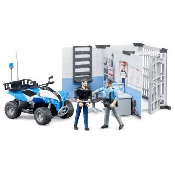Ігровий набір Bruder поліцейський відділок з квадроциклом та фігурками (62730)