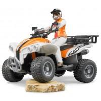 Іграшка квадроцикл з гонщиком Bruder 63000