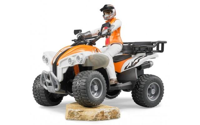 Игрушка Bruder квадроцикл с гонщиком (63000)