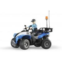 Фігурка жінка-поліцейський на квадроциклі Bruder 63010
