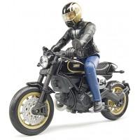 Игрушка Bruder мотоцикл Ducati Scrambler Cafe Racer с водителем (63050)