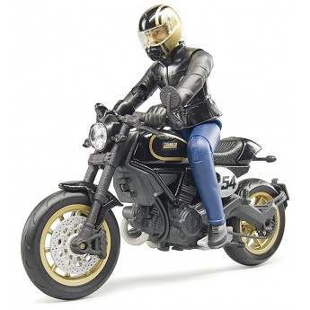 Іграшка Bruder мотоцикл Ducati Scrambler Cafe Racer з водієм (63050)