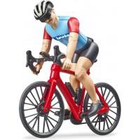 Фигурка Bruder велосипедист на шоссейном велосипеде (63110)