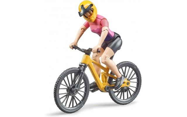 Фигурка Bruder велосипедист на горном байке (63111)