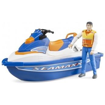 Игрушка Bruder водный мотоцикл с водителем (63150)