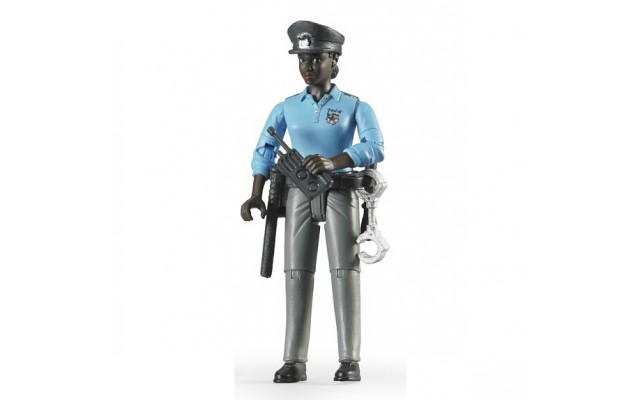 Фигурка чернокожой женщины-полицейского Bruder (60431)