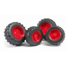Колеса з червоними дисками до тракторів серії 2000 Bruder 02322