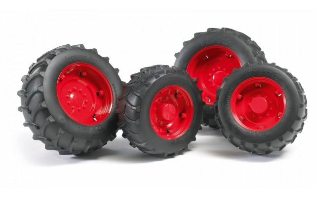 Колеса с красными дисками к тракторам серии 2000 Bruder (02322)