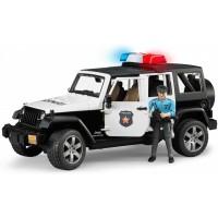 Игрушка Bruder внедорожник Jeep Wrangler с фигуркой полицейского (02526)