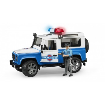 Іграшка позашляховик Land Rover з поліцейським Bruder 02595
