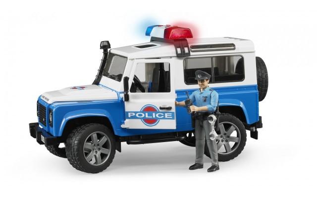 Игрушка Bruder внедорожник Land Rover с фигуркой полицейского (02595)