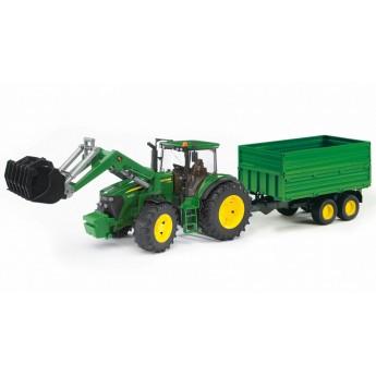 Игрушка Bruder трактор John Deere 7930 с погрузчиком и прицепом (03055)