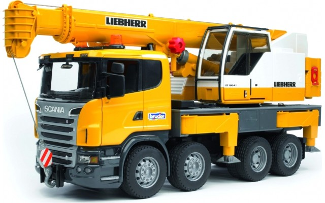 Іграшка автокран SCANIA з модулем світло + звук Bruder 03570