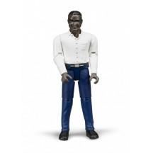 Фигурка мужчина в голубых брюках и белой рубашке Bruder (60004)