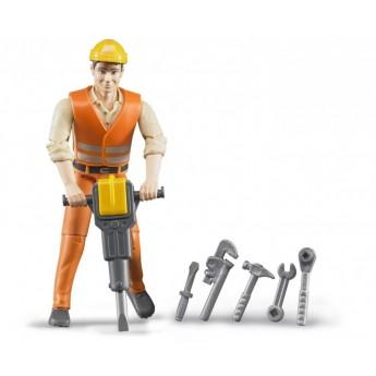 Фігурка будівельника з інструментами Bruder 60020