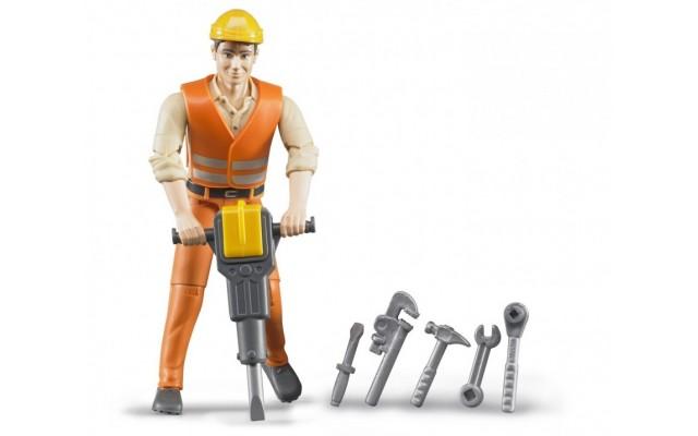 Фигурка строитель с инструментами Bruder (60020)