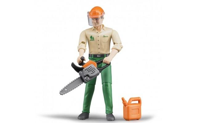 Фігурка лісоруб з інструментами Bruder 60030