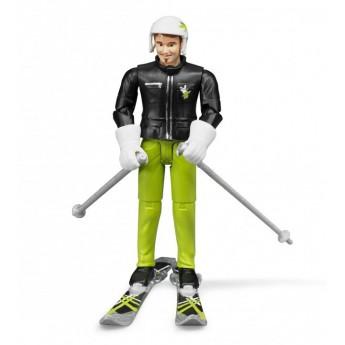 Фигурка лыжника Bruder (60040)