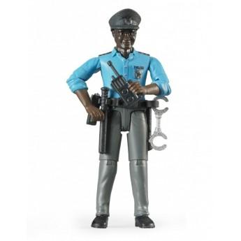 Фігурка чорношкірий поліцейський Bruder 60051