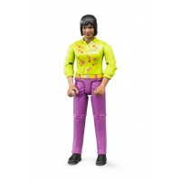 Фигурка женщина в фиолетовых штанах и зеленой рубашке Bruder (60403)