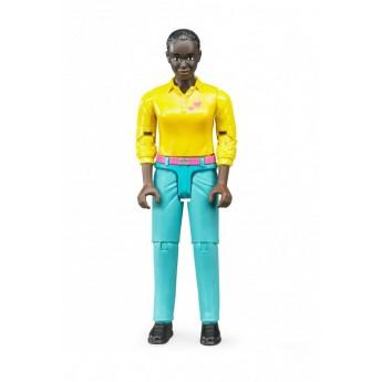 Фигурка женщина в голубых штанах и желтой рубашке Bruder (60404)