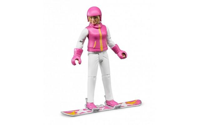 Фигурка женщина на сноуборде Bruder (60420)
