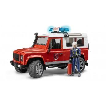 Іграшка позашляховик Land Rover з фігуркою пожежника Bruder 02596