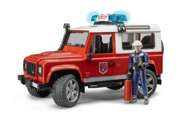 Игрушка Bruder внедорожник Land Rover с фигуркой пожарного (02596)