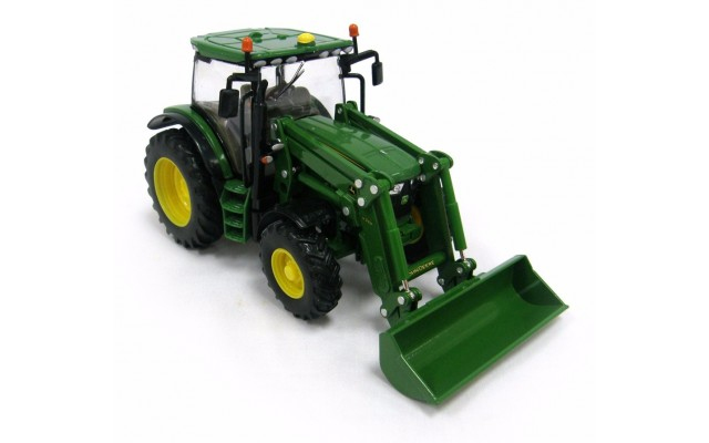 Іграшка трактор John Deere 6215R з навантажувачем