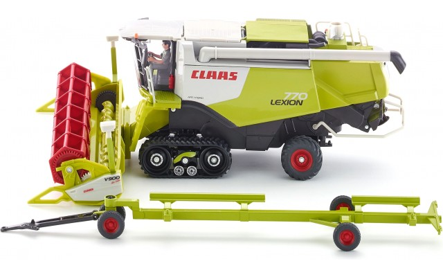 Игрушка-модель комбайн Claas Lexion 770 на гусеницах