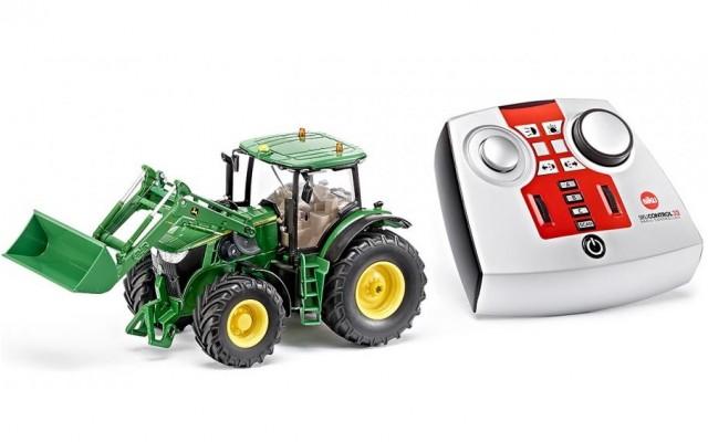 Игрушка трактор John Deere 7R на радиоуправлении Siku (6777)