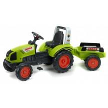 Детский педальный трактор Falk 1040AB Claas Arion 430 с прицепом