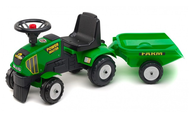 Трактор на педалях Falk 1014B Power Master c прицепом