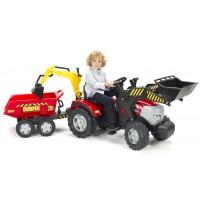 Трактор педальний Falk 1030W Mc Cormick с прицепом, ковшом и экскаватором