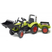 Трактор педальний Falk 1040AM Claas Arion 430 з ковшем і причіпом