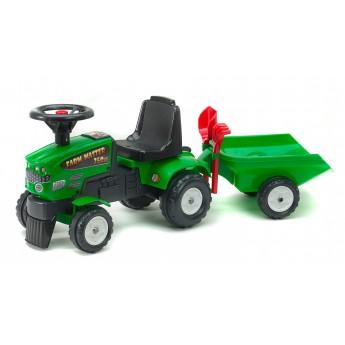 Трактор каталка Falk 1081C Farm Master 350S с прицепом и инструментами