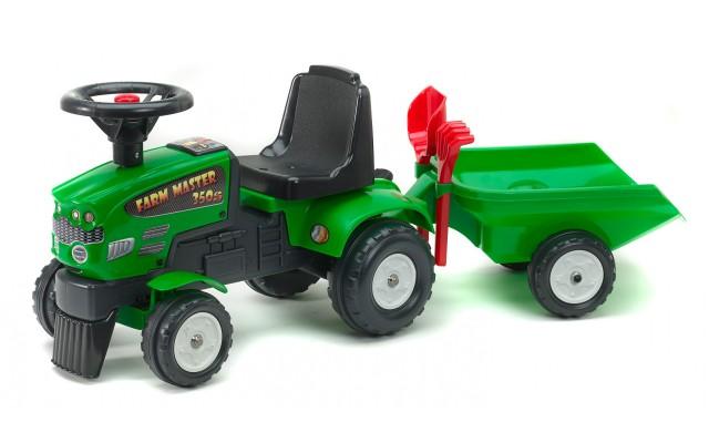 Трактор каталка Falk 1081C Farm Master 350S з причіпом та інструментами
