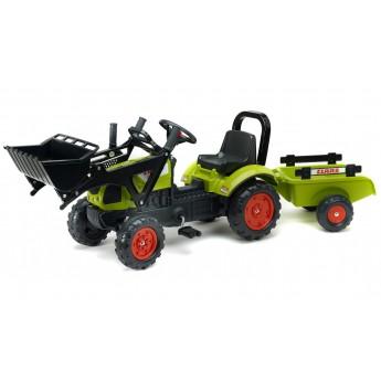 Трактор педальний Falk 2040AM Claas Arion 410 с ковшом и прицепом