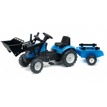 Трактор педальний Falk 2050CM Landini Powermondial с погрузчиком и прицепом